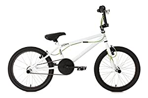 "KS Cycling 532B Hedonic Vélo BMX Freestyle 20"" Blanc"