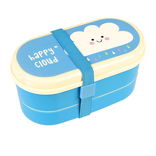 Rex International Bentobox Lunchbox + Besteck klein Motiv Wolke Happy cloud