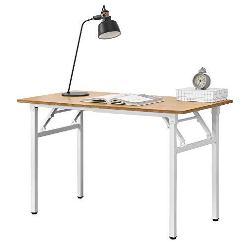 [neu.haus] Klapptisch - 120 x 60 x 75-76,4cm Schreibtisch Bürotisch Computertisch Tisch Klappbar Buche/Weiß