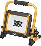 Brennenstuhl Mobiler LED Baustrahler JARO 5000 M (für außen, IP65, mit 5m Kabel, 50W, mit Schnellspannverschluss) schwarz/gelb