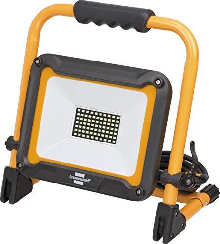 Brennenstuhl Mobiler LED Baustrahler Jaro 5000 M (50 W, für außen, IP65, mit 5m Kabel, mit Schnellspannverschluss) schwarz/gelb