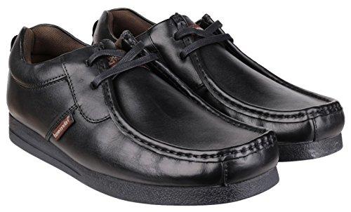 Base London tempête Lace Mens chaussures Cireux noir