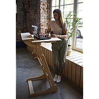 Stehpult Stehtisch Typ HHH - Holz - Tisch höhenverstellbar - Gestell und Tischplatte Nuss hell - Adjust Standing Desk…