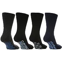 4 pares Hombre Térmico Calcetines De Pantufla Antideslizante Con agarre Nuevo 2014 talla 6-11