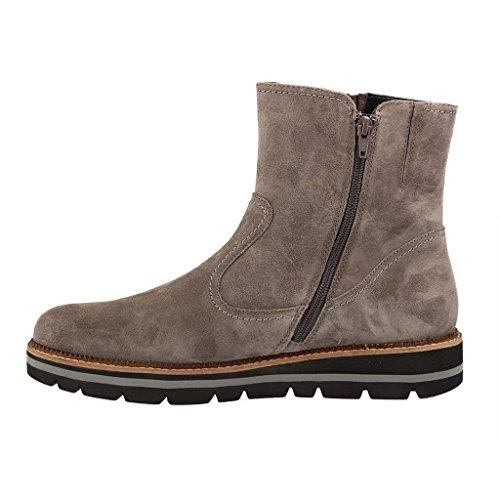 GABOR comfort - Damen Boots - Blau Schuhe in Übergrößen Grau