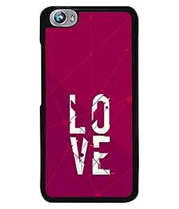 PrintVisa Designer Back Case Cover for Micromax Canvas Fire 4 A107 (love broken darken image view)