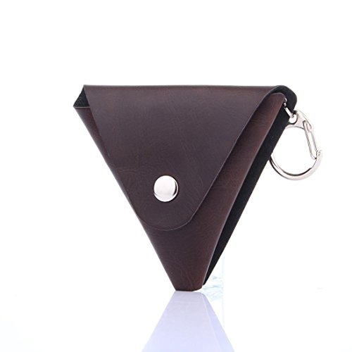 Preisvergleich Produktbild TWIFER PU Tasche für zappeln Hand Spinner, gaddit Spinner Triangle Finger Spielzeug Focus ADHD Autismus Box Case (Braun)