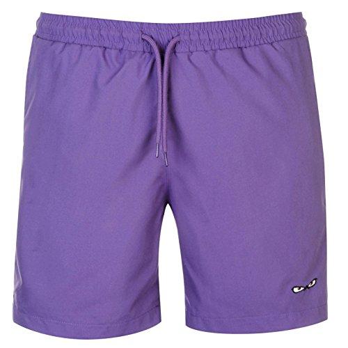 No Fear Herren Forever Badeshorts Shorts Kordelzug Taschen Schwimmshorts Lila M (Kordelzug Badeanzug)