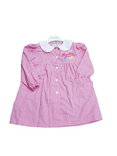 Grembiule scuola materna quadri rosa asilo per bambina (art. 8p304) (50-3 anni)