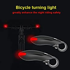 Generic Red : 2017 Waterproof Bicycle Warning Lights Safety LED Mountain Bike Turn Lights Bicycle Grips Bike Handlebar Bicycle Accessories