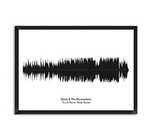 The Pacemakers You'll Never Walk Alone Song Soundwave Lyrics Music Framed Poster ()