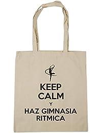 HippoWarehouse KEEP CALM Y HAZ GIMNASIA RITMICA Bolso de Playa Bolsa Compra Con Asas para gimnasio