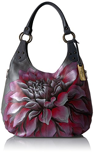 Anuschka-Hand-Painted-Leather-Handbag-Handmade-Gift-for-Women-Large-Shoulder-Leather-hobo-Dreamy-Dahlias-Pink-514-DRD-P