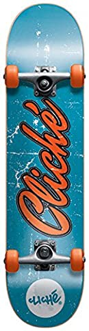 Cliché Old Logo Skateboard Complet Bleu/Orange 7,7