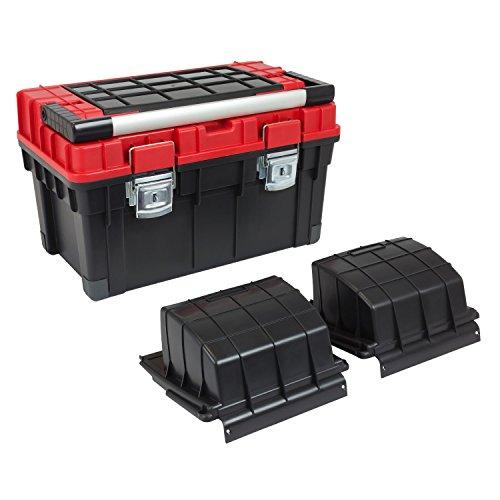HD Trophy 3 Plus Werkzeugkoffer Box Toolbox Werkzeugkiste 595x345x355 Alugriff schwarz / rot - 4