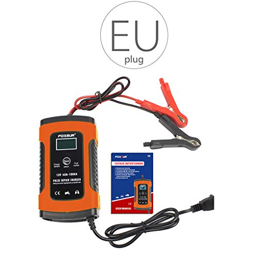 Hotaluyt 12V Automatico Smart Battery Charger Auto Moto Display LCD Intelligente Pulse Charger Repair