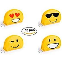 Lote de 30 Monederos Emoticonos de PVC - Monederos Emojis Originales, divertidos y Baratos para niñas, niños, mujeres. Detalles de Bodas, Bautizos, Cumpleaños, Comuniones