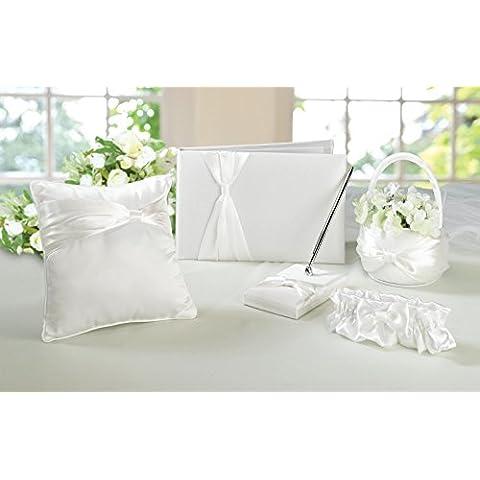 Cerimonia di nozze cestino del fiore, Giarrettiera, Guest Book, Penna