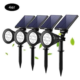 6x LED Solarleuchte warmweiß Solarlampe Wegeleuchte Solar Garten Leuchte Lampe
