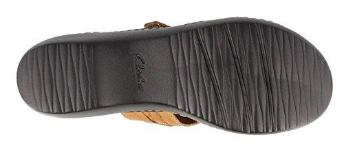 Clarks , Damen Sandalen Beige Leather