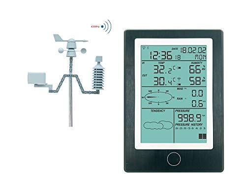 X-Instrument Estación meteorológica inalámbrica Profesional, Sensor Solar, meteorólogo, medidor de Temperatura y Humedad Interior y Exterior