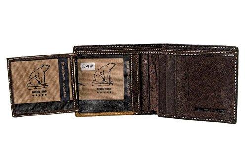 Mini portafoglio uomo NORTH POLE moro in pelle porta carte di credito A4618