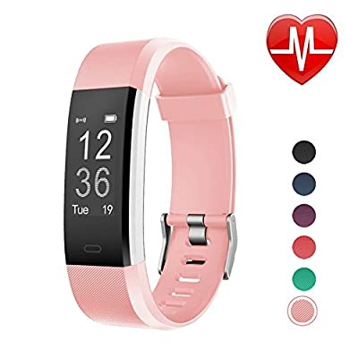 LETSCOM Fitness Tracker, Heart Rate Monitor Smart Watch with Sleep Monitor Step Counter Pedometer, IP67 Waterproof Wireless Activity Tracker Watch from LETSCOM