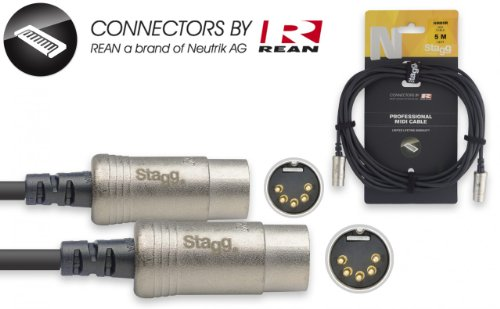 Stagg 5m Midi Kabel NMD5R