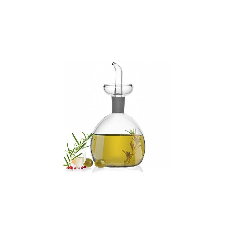 Glas Essigl Flasche Mit Lspender Ausgieer Gewrze Essig Dressing Flasche