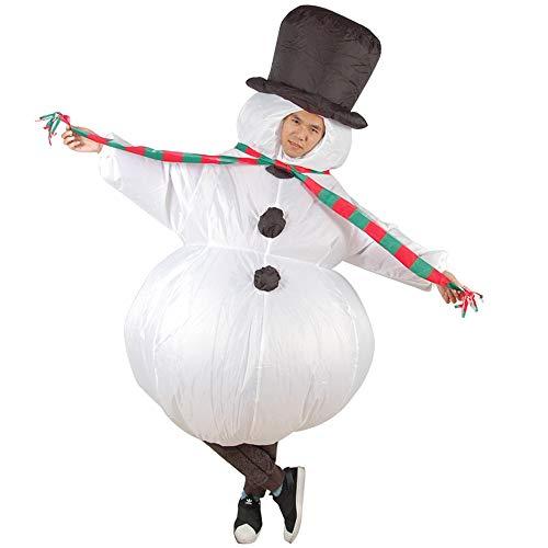 Aufblasbare Weihnachtsmann Anzug - Elton Aufblasbare Weihnachten Weihnachtsmann Anzug, Unisex