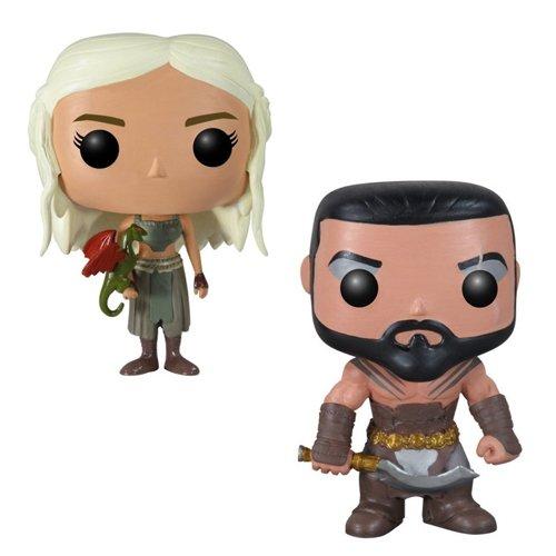 Funko Pop Juego de Tronos: Daenerys Targaryen y Khal Drogo Set