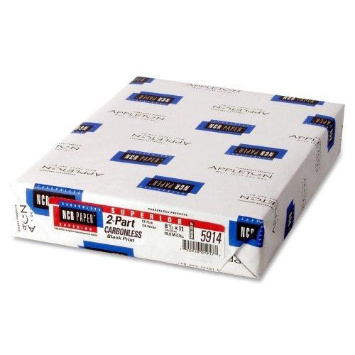 Ncr Papier Superior kohlenstofffreies Papier, 8,5x 27,9cm, Weiß, 500Blatt (NCR5914)