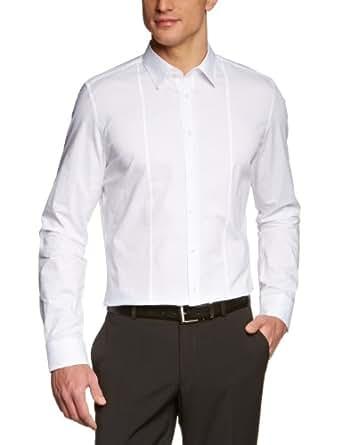 Seidensticker Herren Businesshemd Slim Fit 570290, Gr. 37, Weiß (01 weiß)