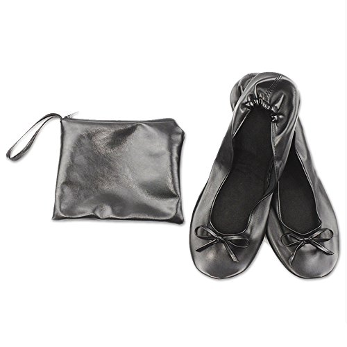 JJOnlineStore JJPRIME - Las Mujeres de Las Señoras enrollan los Zapatos Planos Cómodos Plegables doblan...