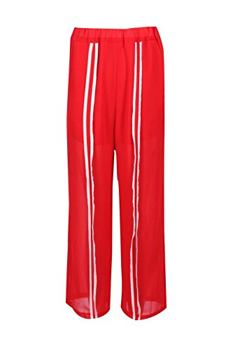 rouge Femmes Karly Pantalon À Rayures Fendu Devant Rouge