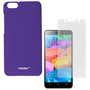 Casotec Ultra Slim Hard Shell Back Case Cover for Huawei Honor 4X -Purple