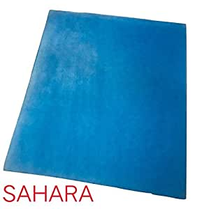 SaharaSeats Elastic Motorcycle Seat Gel Pad Shock Absorption Mats Fiber Cushion for All Bikes/Royal Enfield/Avenger (Blue)
