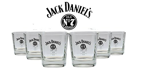 6er Pack Jack Daniels Whiskey Glas - Tumbler Nr. 3 - 10% Rabatt (Daniels Distillery Jack)