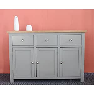 Richmond Grey Painted Furniture Large Sideboard Kitchen Home