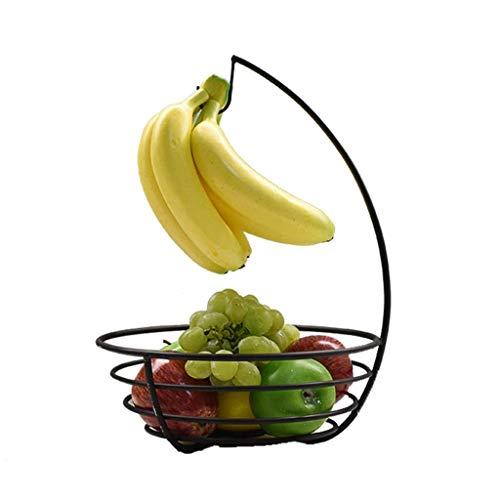 Obstteller-kreativer Bananen-Haken-europäischer Moderner Schmiedeeisen-Regal-Wohnzimmer-Snack-Nuss-Platten - Platte Display-regal