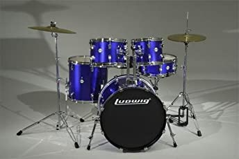 Ludwig Accent Drive Deep Blue Acoustic Drum Kit - 5 Piece