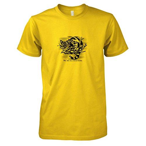 TEXLAB - Mad Here - Herren T-Shirt, Größe L, gelb