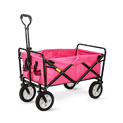 Carrello pieghevole multiuso da 68 kg con carrello da trasporto Carrello da spiaggia, girevole a 360 °, ideale per viaggi e feste Carrello a mano,Ros