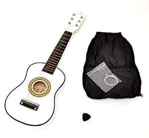 ts-ideen Guitare Acoustique pour Enfant Blanc 59 cm Jouet