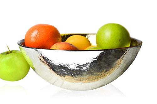 Sendez Schale in Gold und Silber Schüssel Dekoschale Salatschüssel Salatschale 3 Liter