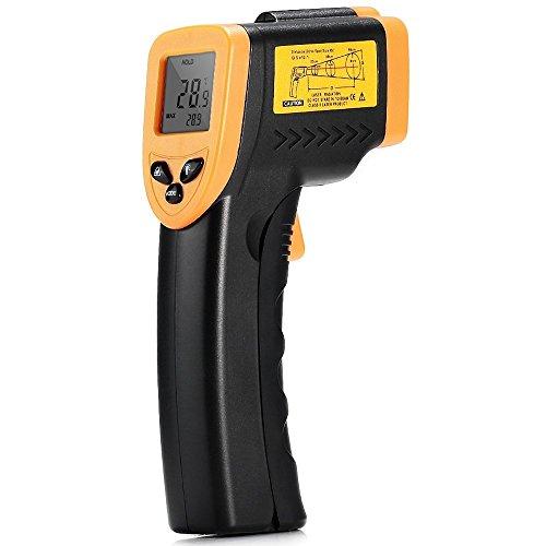 Digital Laser IR Infrarot Thermometer Berührungsloser für Küche Kochen Automotive, -58 ℉ bis 716 ℉ (-50 ℃ bis 380 ℃) mit Hintergrundbeleuchtung LCD Display und perfekte Lesegenauigkeit