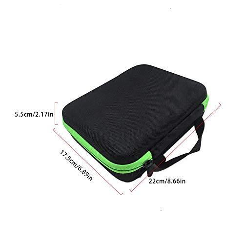 63 Löcher Aromatherapie Öl Aufbewahrungsbox Tragbare Aufbewahrungstasche Schaumstoffeinsatz Koffer für 1ML/3ML Ätherisches Öl Stoßsichere ätherisches Öl Tasche