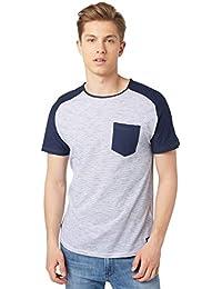 TOM TAILOR Denim Herren T-Shirt Y/D Stripe Tee with Solidmix