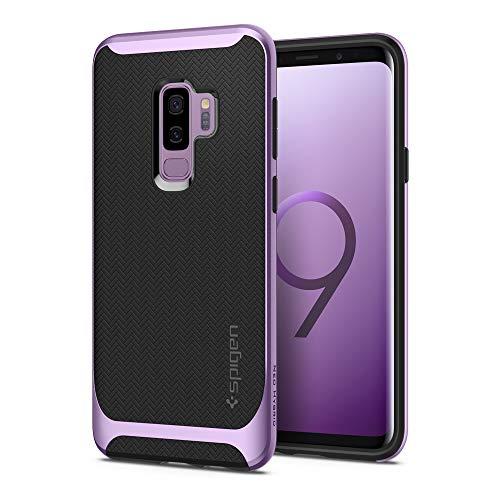 o Hybrid für Samsung Galaxy S9 Plus Hülle, Zweiteilige Modische Muster Silikon und PC Rahmen Schutzhülle Case Lilac Purple ()
