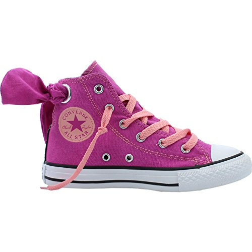 Converse Chuck Taylor All Star Bow Back Pink Textile Youth Trainers Pink